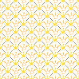 Simple seamless  pattern with crown and line Stock Photography