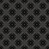 Simple seamless pattern. Dark, checked. Abstract geometric pattern with lines, rhombuses and seamless background. Black and white texture Stock Images