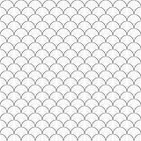 Simple seamless pattern fish scales Royalty Free Stock Images