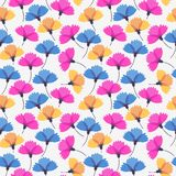 Simple seamless pattern in flower, vector Royalty Free Stock Images