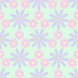 Simple seamless pattern with flowers. Floral vector illustration. royalty free illustration