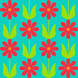 Simple seamless pattern with flowers Stock Photo