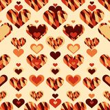 Simple seamless pattern with heart symbol. Eps 10 stock illustration