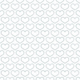 Simple seamless pattern with heart symbol. Stock Photography