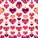 Simple seamless pattern with heart symbol. Eps 10 royalty free illustration