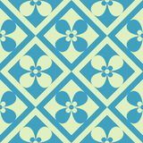 Simple seamless pattern. Retro, checked. Seamless geometric pattern abstract with floral design Stock Photo