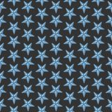 Simple seamless pattern with sea starfish on black. Continuous Background. Vector Illustration Royalty Free Stock Photos