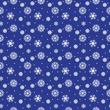 Simple seamless pattern with snowflakes. Royalty Free Stock Photos