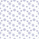 Simple seamless pattern with snowflakes. Royalty Free Stock Photography