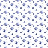 Simple seamless pattern with snowflakes. Royalty Free Stock Images