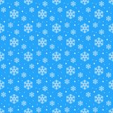 Simple seamless pattern with snowflakes. Winter endless background. Vector illustration royalty free illustration