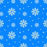 Simple seamless pattern with snowflakes. Winter endless background. Vector illustration. On white background royalty free stock photos