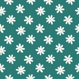 Simple seamless pattern with stylized daisies. Floral print. Vector illustration royalty free illustration
