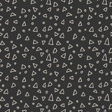 Simple seamless pattern of triangles and circles Royalty Free Stock Images