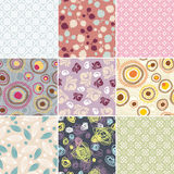 Simple seamless patterns Stock Images
