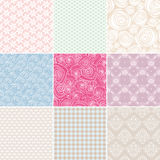 Simple seamless patterns Stock Photos