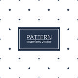 Simple seamless patterns with blue stars. royalty free illustration