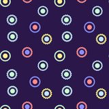 Simple, seamless/repeat abstract flower pattern/texture. Colorful design. Square pattern design Royalty Free Stock Image