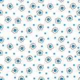 Simple seamless vector background chamomile drawing, blue flowers ordinary, easy simple drawing the background of polka dots. Simple seamless vector background royalty free illustration