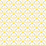 Simple seamless vector pattern with crown and line Royalty Free Stock Photo