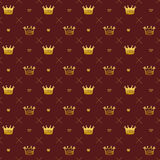 Simple seamless vector pattern with crown symbol art Stock Image