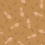 Simple seamless vector texture - ants Royalty Free Stock Photography