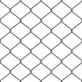 Simple seamless wired fence pattern in two shades Royalty Free Stock Photos