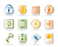 Simple Security and Business icons Royalty Free Stock Photo