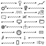 Simple seo icons set, basic seo elements texture and pattern seamless. Royalty Free Stock Photo