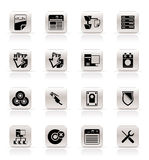 Simple Server Side Computer icons Stock Image