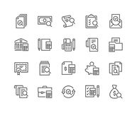 Line Accounting Icons stock illustration