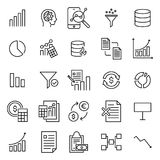 Simple set of analysis related outline icons. Elements for mobile concept and web apps. Thin line vector icons for website design and development, app Stock Photo