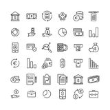 Simple set of banking related outline icons. Elements for mobile concept and web apps. Thin line vector icons for website design and development, app Stock Images