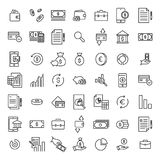 Simple set of banking related outline icons. Elements for mobile concept and web apps. Thin line vector icons for website design and development, app Royalty Free Stock Photo