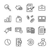 Simple set of banking related outline icons. Stock Image