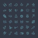 Simple Set of Barbecue Related Vector Line Icons. Royalty Free Stock Photos