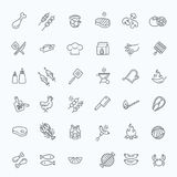 Simple Set of Barbecue Related Vector Line Icons. Royalty Free Stock Photo