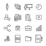 Simple set of business related outline icons. Stock Images
