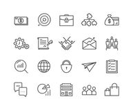 Simple Set of Business vector thin line icons. Editable Stroke linear symbols Stock Photography