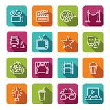 Cinema line icons Stock Images