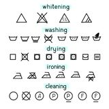 Simple set clothes icons for washing vector illustration