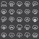 Simple Set of Computer Cloud Related Vector Line Icons vector illustration