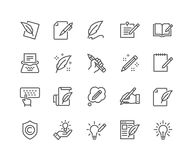 Line Copywriting Icons. Simple Set of Copywriting Related Vector Line Icons. Editable Stroke. 48x48 Pixel Perfect royalty free illustration