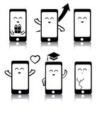 Simple set of cute phone symbols Stock Photography