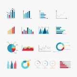 Simple set of diagram and graphs related vector icons Stock Photos