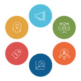 Simple set of doodle business  icons Royalty Free Stock Images
