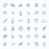 Simple Set of Drugs Related Vector Line Icons vector illustration