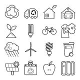 Simple Set of Eco Related Vector Line Icons. Stock Images