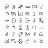 Simple set of finance related outline icons. Elements for mobile concept and web apps. Thin line vector icons for website design and development, app Royalty Free Stock Photo