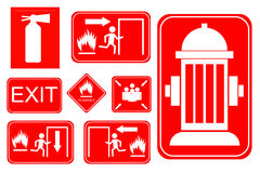Simple set of fire accident sign Royalty Free Stock Photos